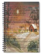 Desiderata On Snow Scene With Cabin Spiral Notebook