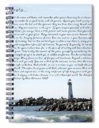 Desiderata Santa Cruz Lighthouse Spiral Notebook
