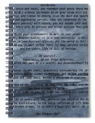 Desiderata Winter Scene Spiral Notebook