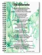 Desiderata - Words Of Wisdom Spiral Notebook