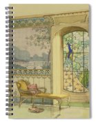 Design For A Bathroom, From Interieurs Spiral Notebook