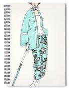 Design For A Day Dress C 1919 Spiral Notebook