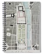 Design For Joining The Tuileries To The Louvre, 1808 Wc On Paper Spiral Notebook