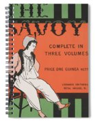 Design For The Front Cover Of 'the Savoy Complete In Three Volumes' Spiral Notebook