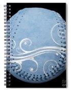 Designer Light Blue Baseball Square Spiral Notebook