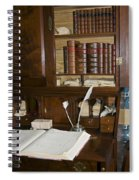 Desk With Quill Pens Spiral Notebook