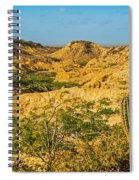 Desolate Desert Landscape Spiral Notebook