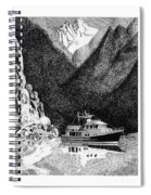 Anchored Safe Chatterbox Falls, British Columbia Inside Passage Spiral Notebook