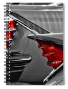 Desoto Red Tail Lights In Black And White Spiral Notebook