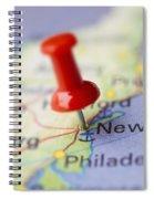 Destination To New York Spiral Notebook