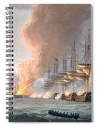 Destruction Of The Danish Fleet Spiral Notebook