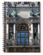 Detail City Hall Hamburg II Spiral Notebook