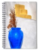 Detail In Oia Town Spiral Notebook
