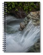 Detail Of A Small Water Fall In A Stream Spiral Notebook