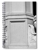 Detail Of Monument Statues - Bw Spiral Notebook