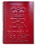 Detail Of Old Royak Mail Post Box Spiral Notebook