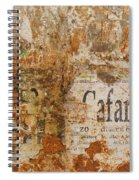Detail Of Old Stone Wall In Sorrento Spiral Notebook