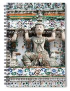 Detail Of Temple, Thailand Spiral Notebook