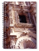 Detail Of The National Cathedral Of Guatemala Spiral Notebook