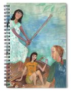 Detail Of We All Went Punting Spiral Notebook