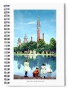 Detroit - Gladwin Waterworks Park - Jefferson Avenue At The Detroit River - 1905 Spiral Notebook