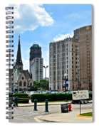 Detroit As Seen From Comerica Spiral Notebook