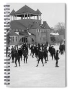 Detroit Michigan Skating At Belle Isle Spiral Notebook