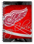 Detroit Red Wings Christmas Spiral Notebook