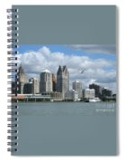 Detroit Riverfront Spiral Notebook