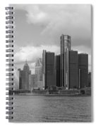 Detroit Skyscape Spiral Notebook