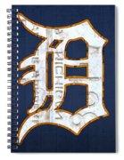 Detroit Tigers Baseball Old English D Logo License Plate Art Spiral Notebook