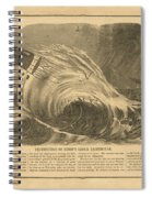 Detstruction Of Minots Ledge Lighthouse Spiral Notebook