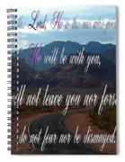 Deuteronomy 31 Verse 8 Spiral Notebook