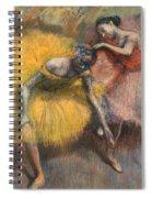 Deux Danseuses Jaunes Et Roses Spiral Notebook