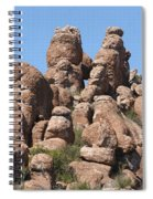 Devil Canyon Rim Rocks Spiral Notebook
