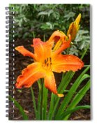 Dew Drops On Golden Lily Spiral Notebook