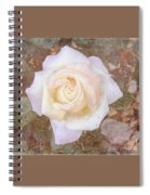 Dewy Dawn Peace Rose Spiral Notebook