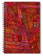 Diagonal Tiles In Reds Spiral Notebook