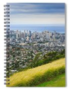 Diamond Head And The City Of Honolulu Spiral Notebook
