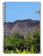 Diamond Head From Honolulu Zoo Spiral Notebook