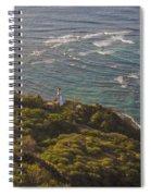 Diamond Head Lighthouse Spiral Notebook