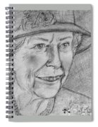 Diamond Jubilee Queen  Spiral Notebook