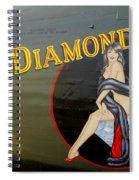 Diamond Lil B-24 Bomber Spiral Notebook