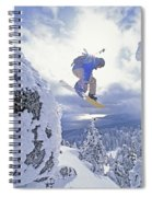 Diamond Peak, Lake Tahoe, Nevada, Usa Spiral Notebook