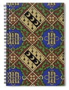 Diamond Print Ecclesiastical Wallpaper Spiral Notebook