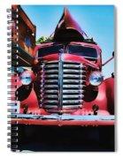 Diamond T Truck - Tomato Red Spiral Notebook