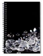 Diamonds On Black Background Spiral Notebook