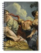 Diana And The Nymphs Surprised By Actaeon Spiral Notebook