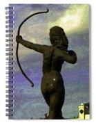 Diana-goddess Of The Hunt On B Street Spiral Notebook