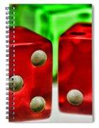 Dice - Lucky Seven Spiral Notebook